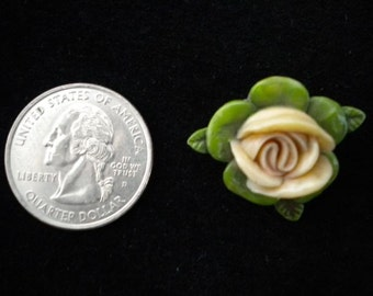 Celluloid Rose Pin