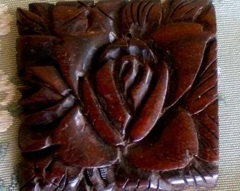 Lovely Brown Carved Bakelite Dress Clip