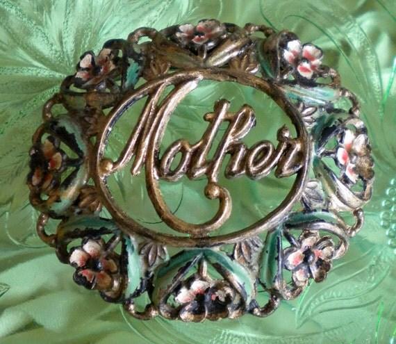 Vintage Floral Mother Pin