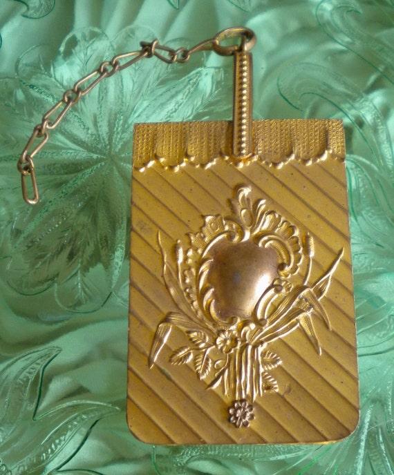 Victorian Gold Brass Dance Card