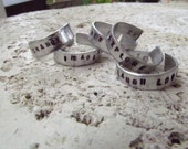 Personalized - 5mm Hand Stamped Aluminum Ring - Custom Stamping
