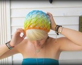 Guppy - Hand Knitted - Unisex Boho Slouchy Tam