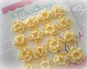 15 Crochet flowers in yellow