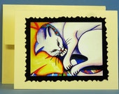 "Celtic, Stylized - ""Tartan Kitty"" - card and envelope"