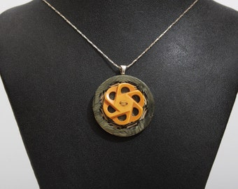 Vintage Button Pendant