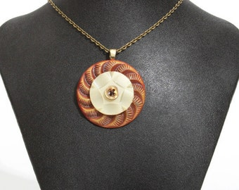 Unusual Vintage Button Pendant