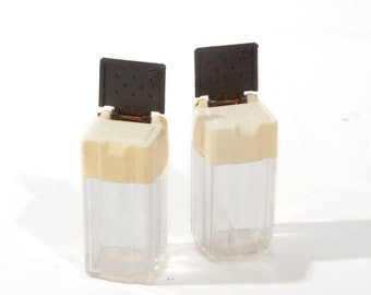 Old Plastic Salt and Pepper Shakers