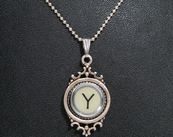 The Letter Y Vintage Typewriter Key Pendant