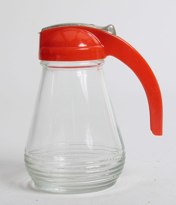 Vintage Red Handled Syrup Pitcher
