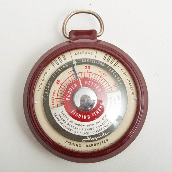 Vintage airguide 225 fishing barometer for Barometer and fishing