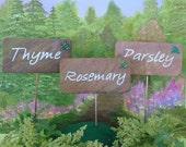 HERB,VEGGIE and HUMOROUS Garden markers