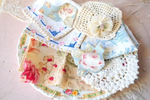 Sale.. vintage fabric scraps