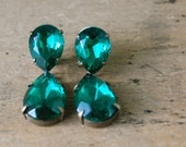 vintage SUCCULENT 1940s earrings