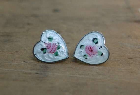 vintage earrings / 1940s jewelry / FLEURISTE