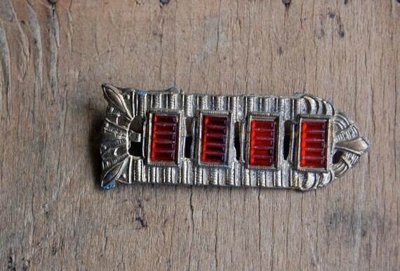 vintage Art Deco brooch / 1930s jewelry / TOUTE DROITE