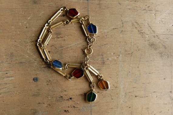 vintage bracelet / 1980s jewelry / TAFFY JAR