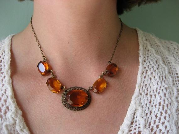 Vintage Czech Necklace 1930s Jewelry Sugar By