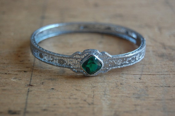 vintage Art Deco bracelet / 1930s jewelry / AMARANTH