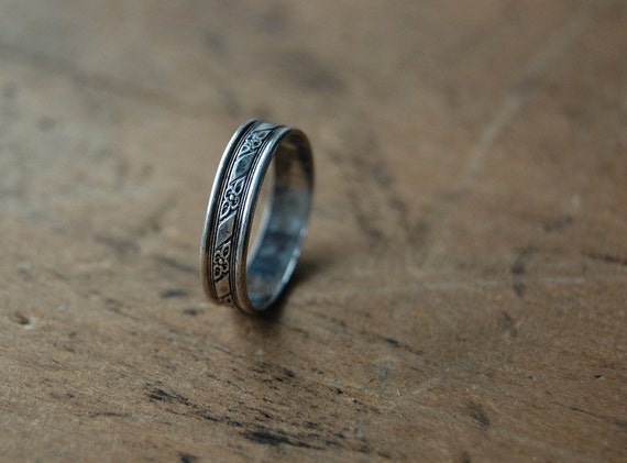 vintage sterling ring / 1950s jewelry / MATIN GRIS