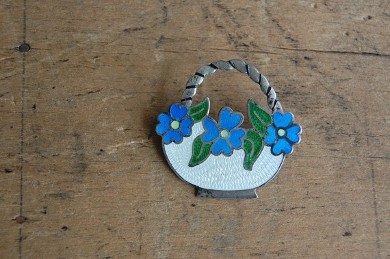 vintage Mexican brooch / 1940s jewelry / MAY DAY