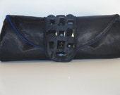 REMY- Studded satin clutch