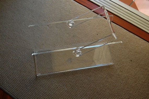 Lucite Magazine Rack with Handle at Retro Daisy Girl