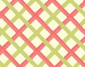 Sanibel by Heather Mulber Peterson for Henry Glass Coral and Lime Plaid   1 yard