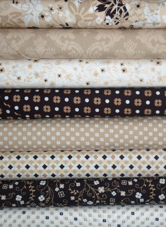 Melodies by Exclusively Quilters Tan 8 Fat Quarters