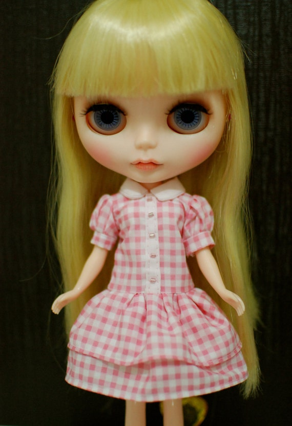 Blythe Dress : Pinky Check Dress