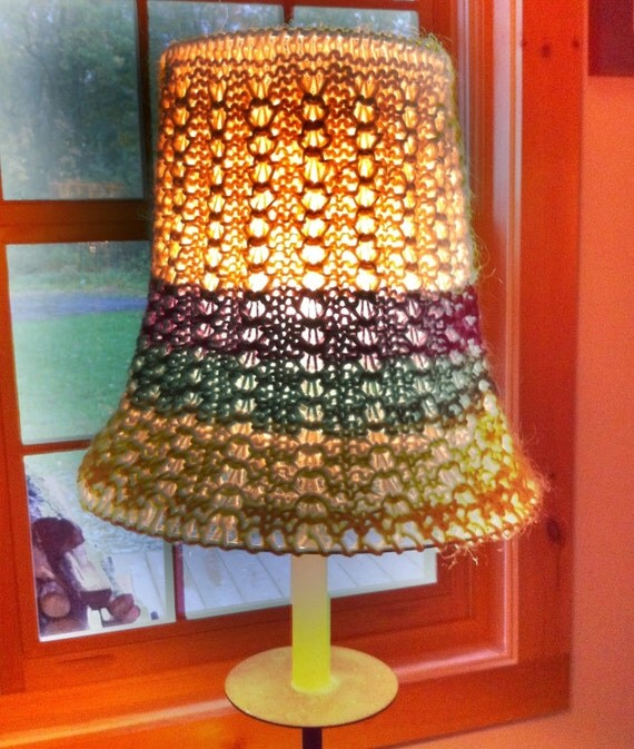 Lampshade,  Unique and Lacy, Knitted