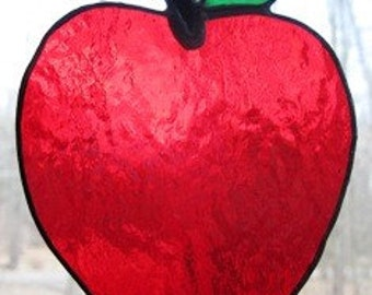 Apple Stained Glass Suncatcher