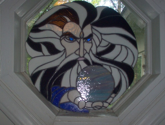 SALE was 225 now only 175  Stained glass wizard