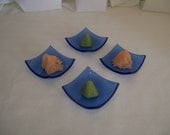 set of 4 wasabe dishes
