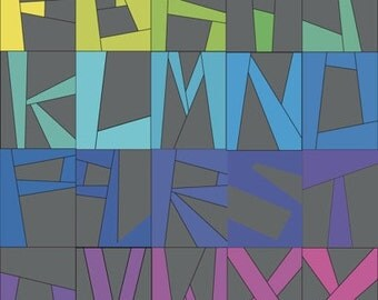 Wonky Alphabet PDF Digital Download