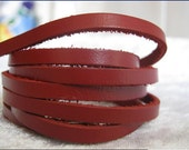 Leather Wrap Bracelet 5mm Red Handmade 5mm real leather multi Wrap thin gentle leather Bracelet WORLDWIDE FREE SHIPPING