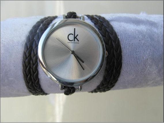 Handmade double strap multi Leather wrap bracelet leather watch WORLDWIDE FREE SHIPPING