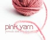pink yarn banner set, OOAK reserved for AlmasKnitShop