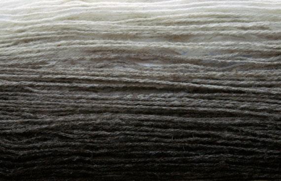 GRADIENT in GREYS Handspun All-Natural Rare Breed Wool Sock Yarn - 458 yds
