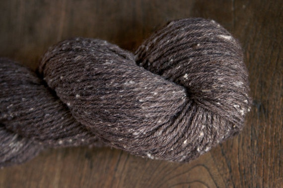 FIRST SNOW - All Natural Hand-dyed Handspun Rare Breed Sock Yarn - 312 yds