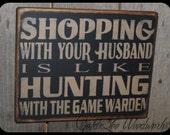Primitive, Folk Art ,Shopping Wall Sign