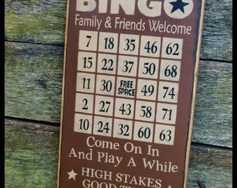 Primitive, Folk Art , BINGO Gameboard
