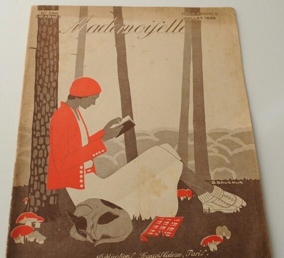 Antique French Magazine ' Mademoiselle' - July 1930