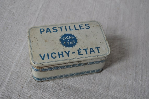 Reserved for Melinda - Vintage French Tin - Pastilles Vichy-Etat
