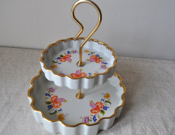 Vintage French Limoges - Two Tier Display Stand