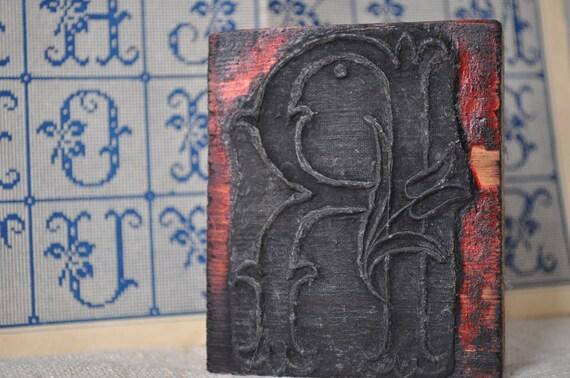 French Antique Monogram Stamp
