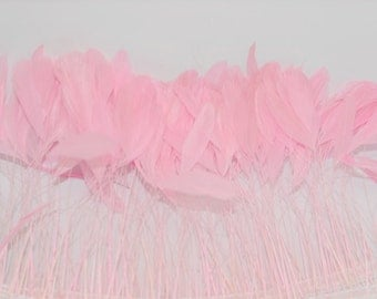 NEW - 12 PINK Stripped  Coque Rooster Tail Feathers