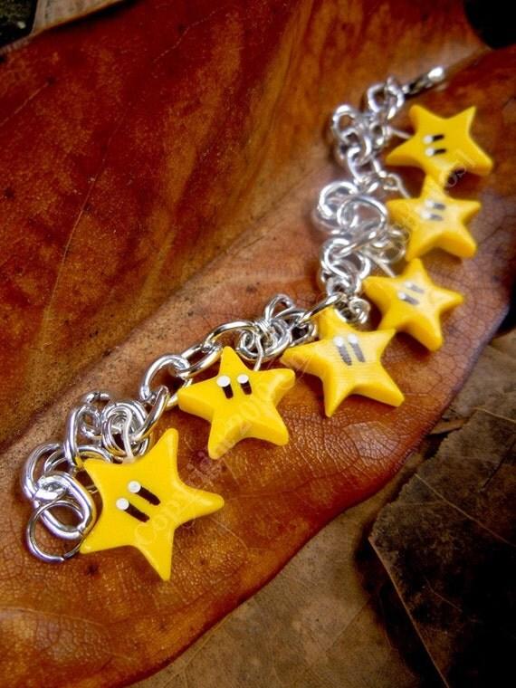 Nintendo Invincibility Star Charm Bracelet