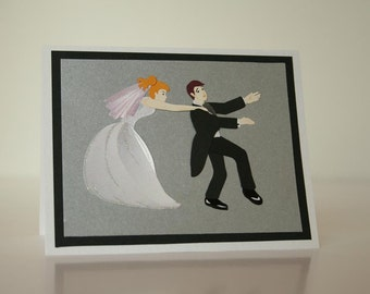 Wedding Card-  Funny Couple 3