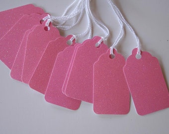 Cupcake Pink Glitter Gift Tags (10)