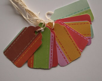Bold Thick Striped Gift Tags (10)